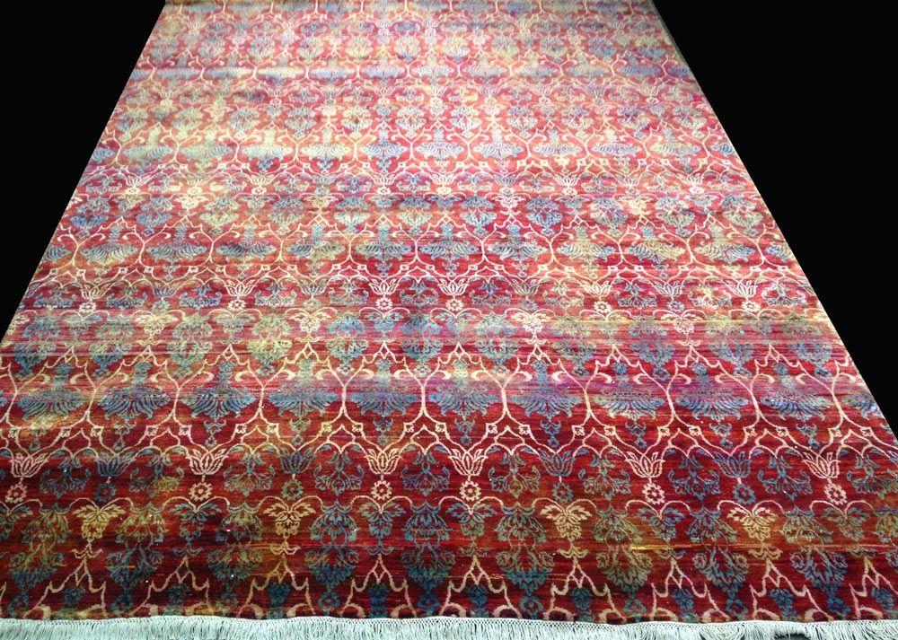Recycled Sari Silk Rug Manufacturers India Silk Rug Rugs On