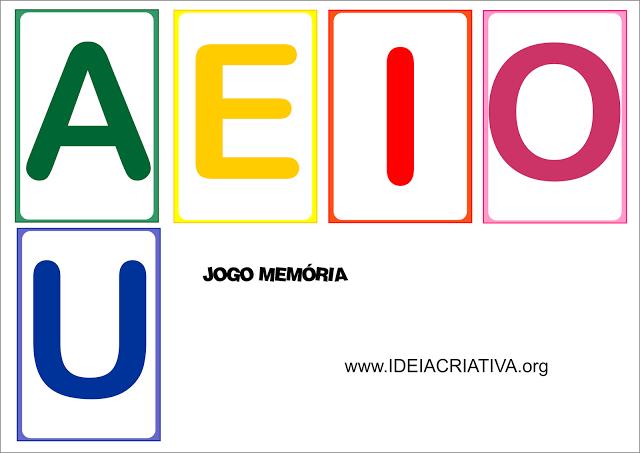 Jogo Da Memoria Letra Inicial Vogais Atividades Para Educacao