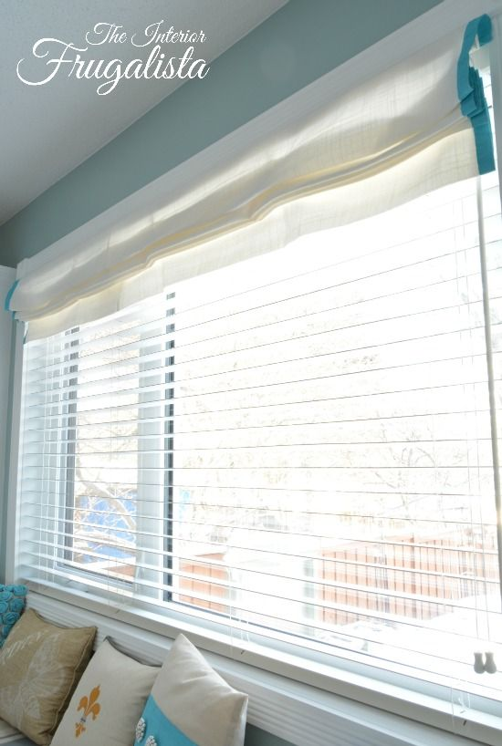 Turning Dry Panels Into A Faux Roman Shade