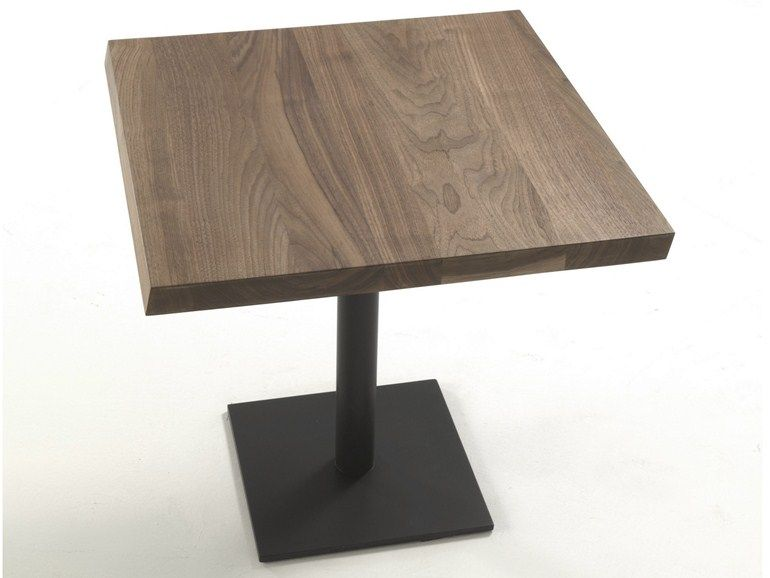 Square Solid Wood Table Pebbles By Riva 1920 Design Terry Dwan