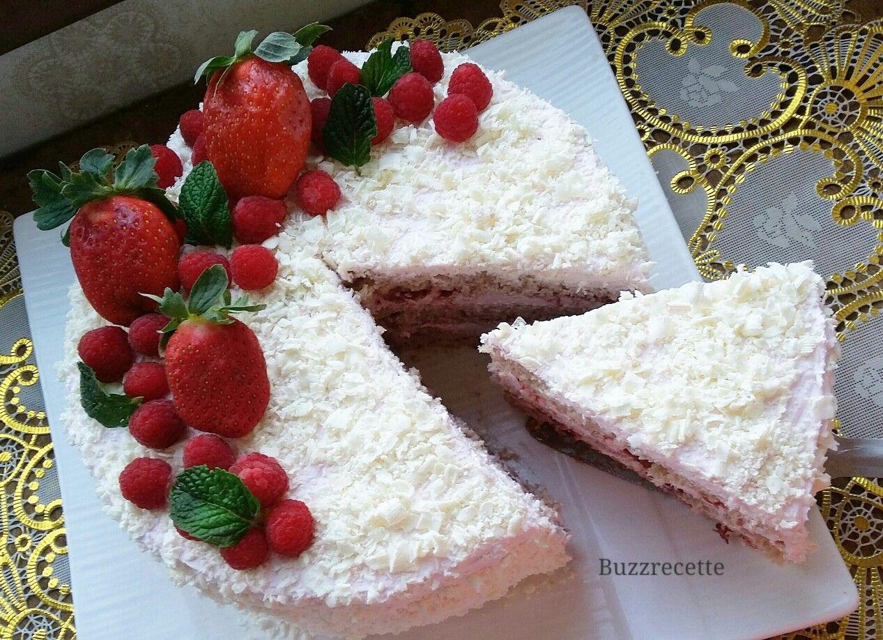 Strawberry Flavored Cake كيك طبقات بنكهة الفراولة Desserts Cake Vanilla Cake