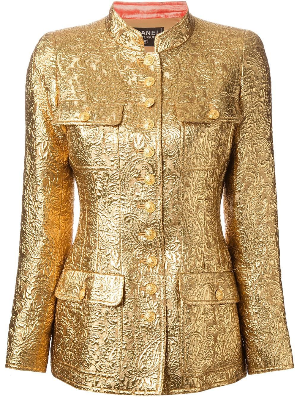 1ea0379a95df4a Chanel 24K Gold Jacket 96A Met Museum Lesage Embroidered Vogue Meisel Gaga  $10K | @THECOVETEUR #THECOVETEUR