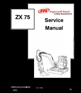 Best download bobcat zx75 excavator service manual