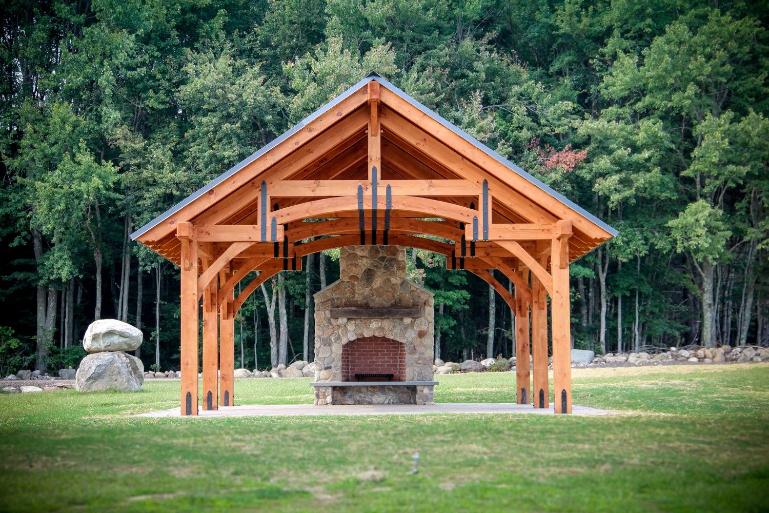 Sheds garages post beam barns pavilions for ct ma for Maine post and beam kits