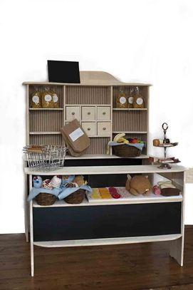 Kaufmansladen selbstgestalltet clara 39 s kaufladen for Kinderzimmer clara