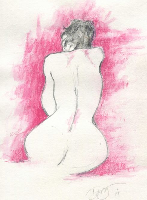 Nude with red