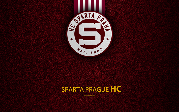 Download Wallpapers HC Sparta Prague, 4k, Logo, Leather