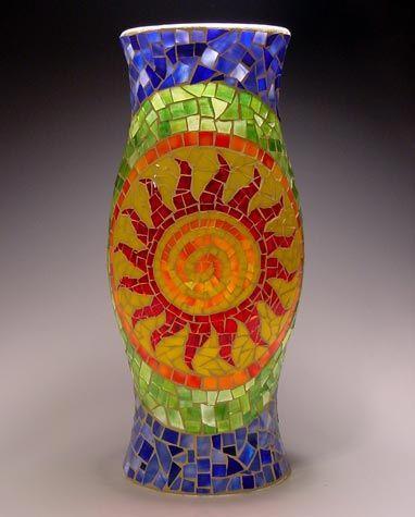 Dawn Marie Zimmerman Mosaicos Vasos Decorativos Como Fazer