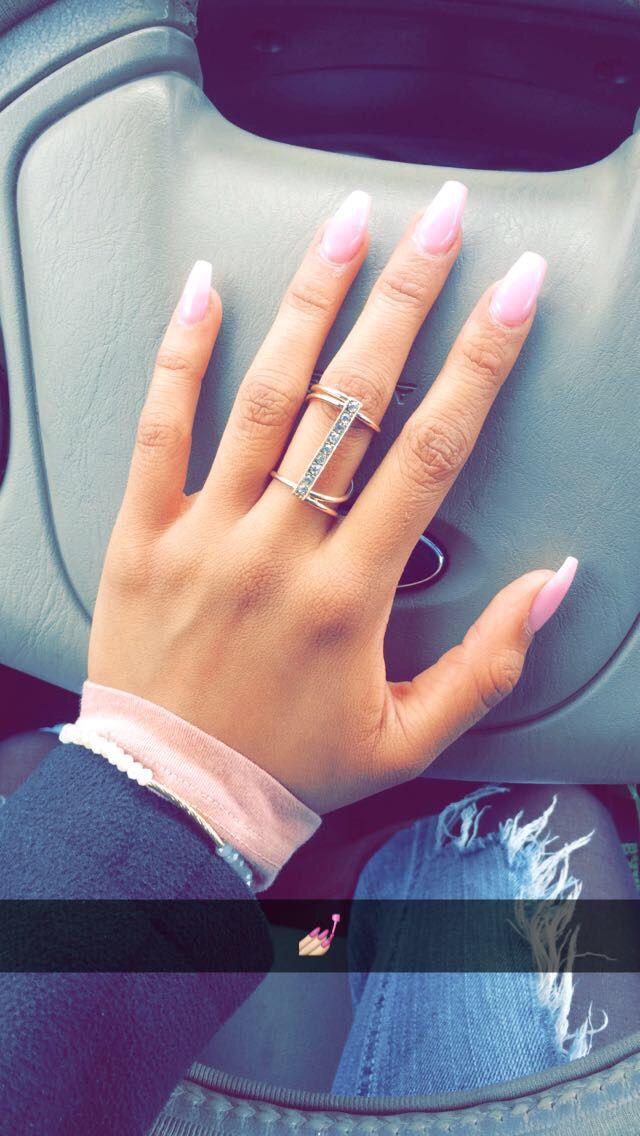 Pink Ombré nails!