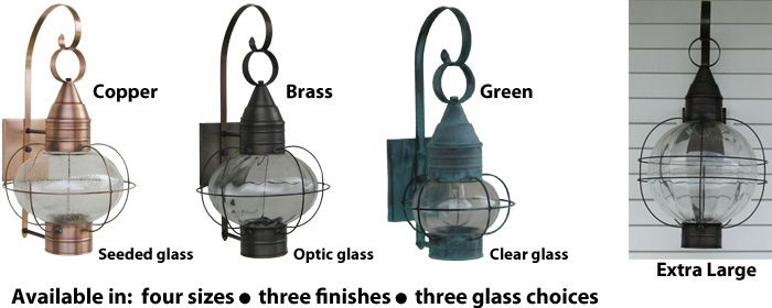 Exterior Onion Lights From Sandwich Lantern Are Available In A Variety Of Sizes And Finishes