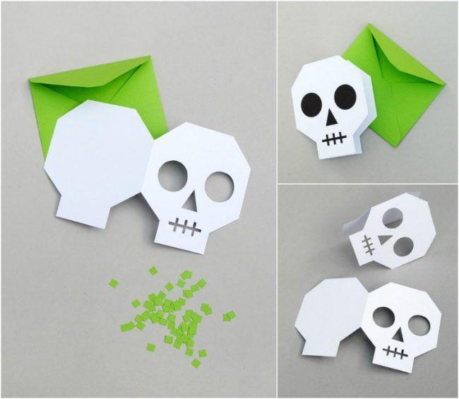 halloween einladung selber basteln vorlage totenkopf einladungskarte basteln kinder. Black Bedroom Furniture Sets. Home Design Ideas