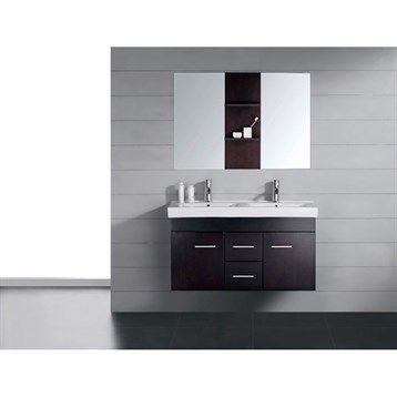 "Virtu+USA+Opal+48""+Double+Sink+Bathroom+Vanity+-+Espresso"