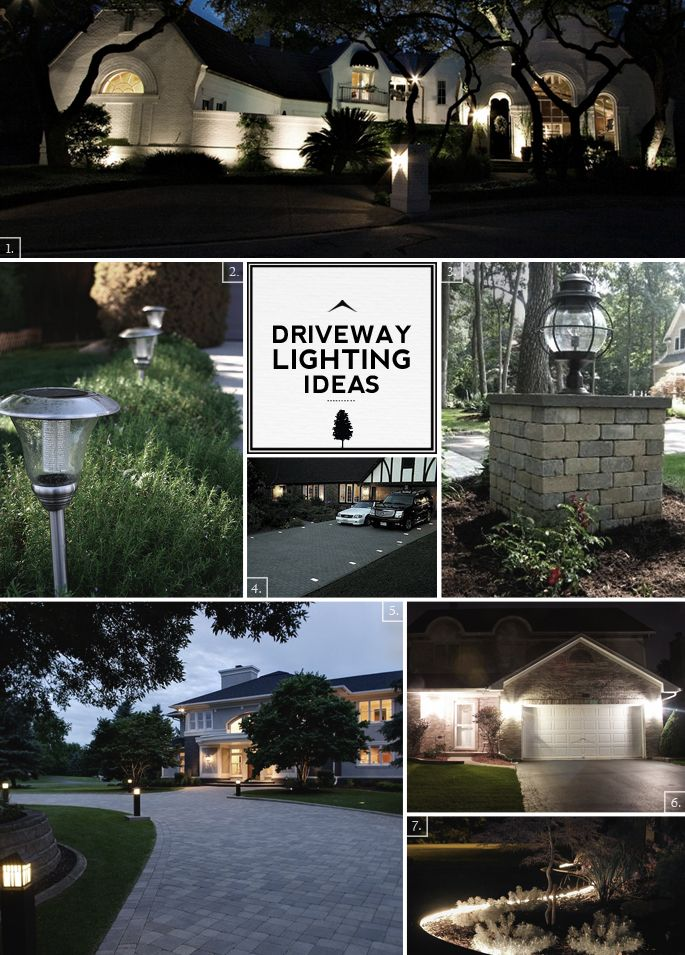 Driveway Lighting Ideas From The Road To The Front Door Home Tree Atlas Driveway Lighting Driveway Driveway Landscaping