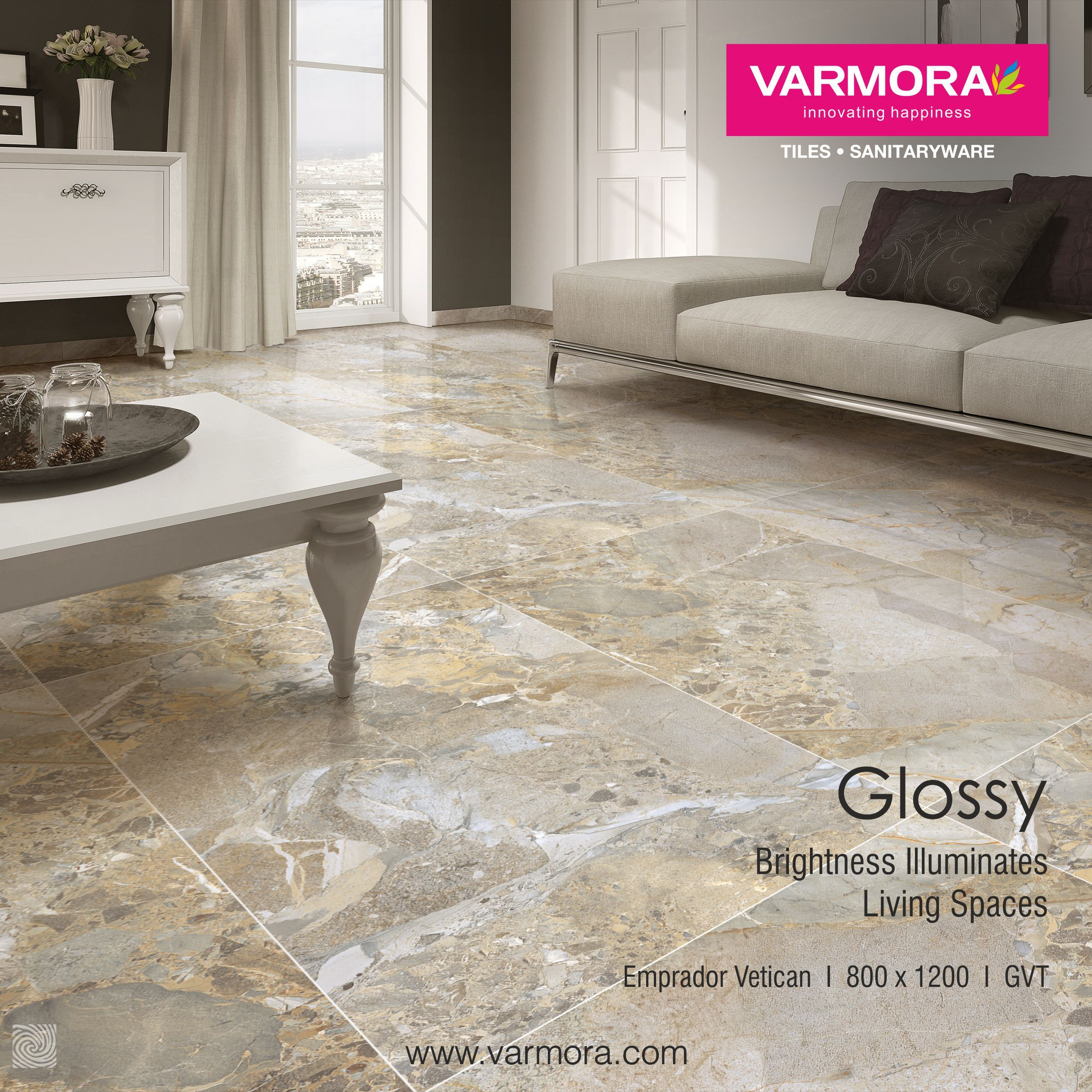 Brightness illuminates living spaces with glossy tiles from brightness illuminates living spaces with glossy tiles from varmora granito glossytiles floortiles ceramic doublecrazyfo Image collections