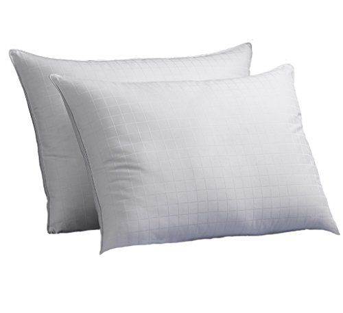 Luxury Plush Down-Alternative Hotel Luxe Pillows 2-Pack, King Size, Gel