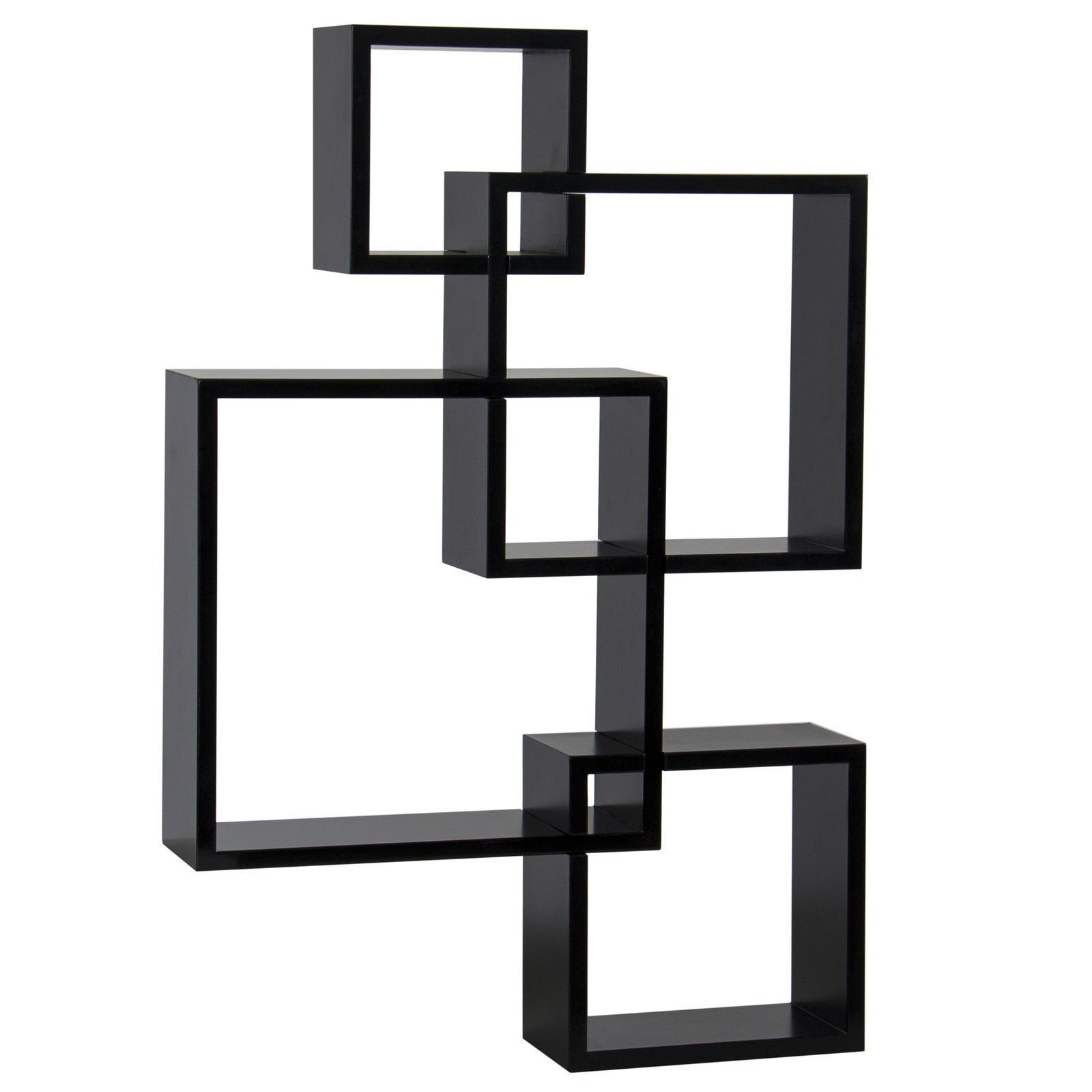 Intersecting Squares Floating Shelf Wall Mounted Home Decor