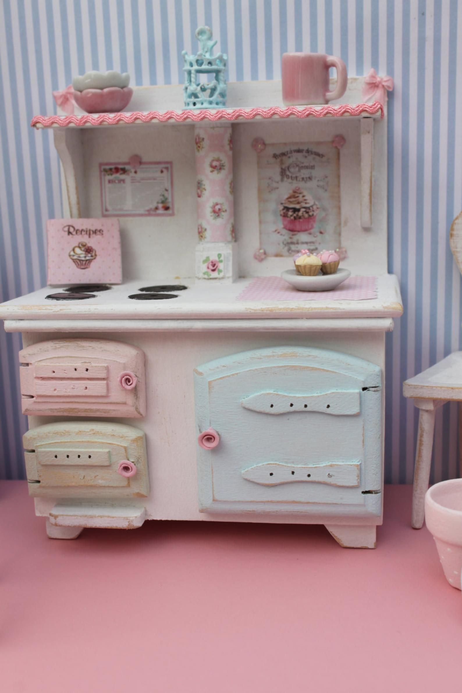 Stove For Kitchen Scale 1 12 Etsy Shabby Chic Decor Doll House Plans Kids Play Kitchen