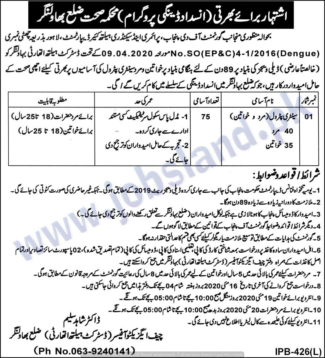 Pin on Jobs in Punjab May 2020