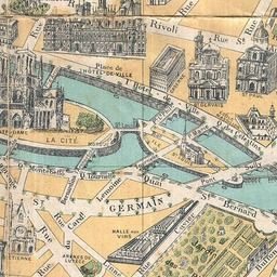 Map of Paris 1919 KARTE MAPS Pinterest