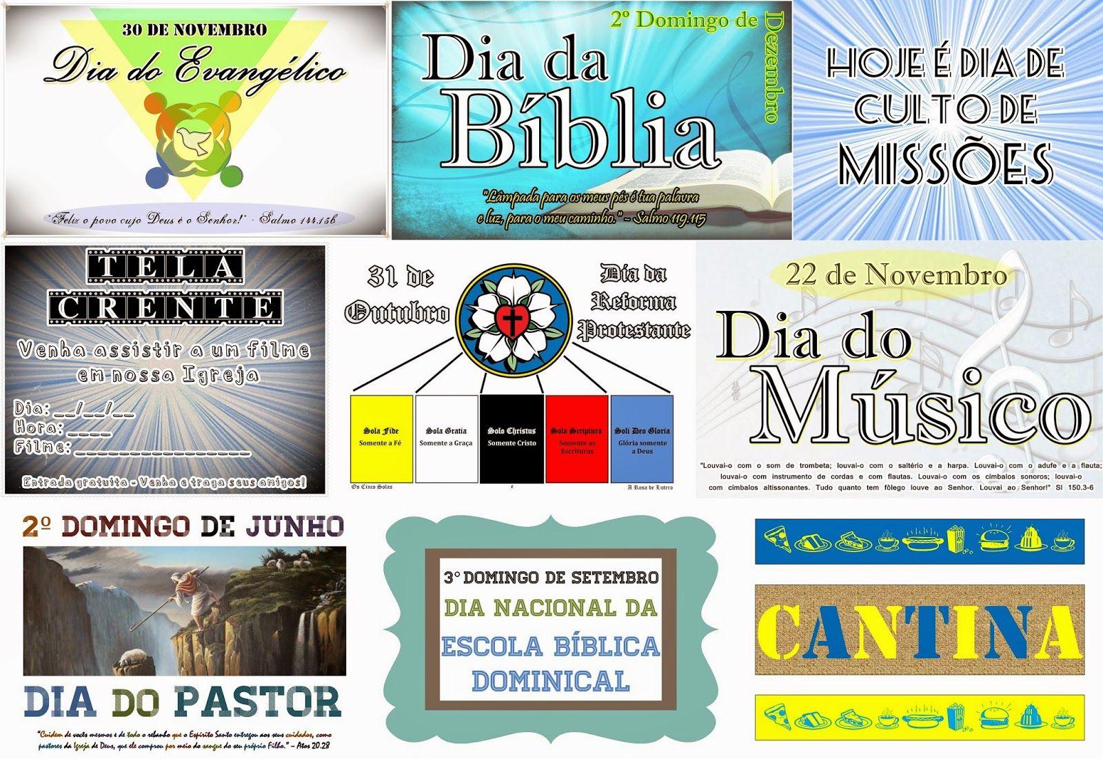Arsenal do Crente: Cartazes de Datas Comemorativas para igrejas evangélicas - Baixe grátis!