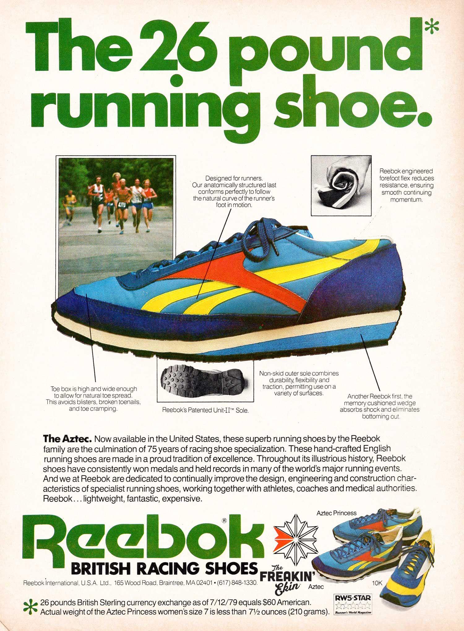 9f063757fc6b Reebok Aztec 1980 vintage sneaker ad   The Freakin  Ekin