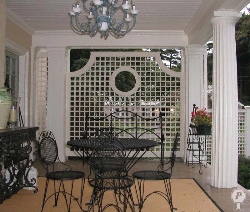 Partial Open Privacy Lattice | Screened porch decorating ...
