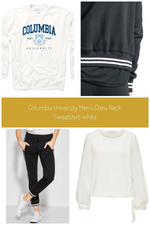 Columbia University Men's Crew Neck Sweatshirt White