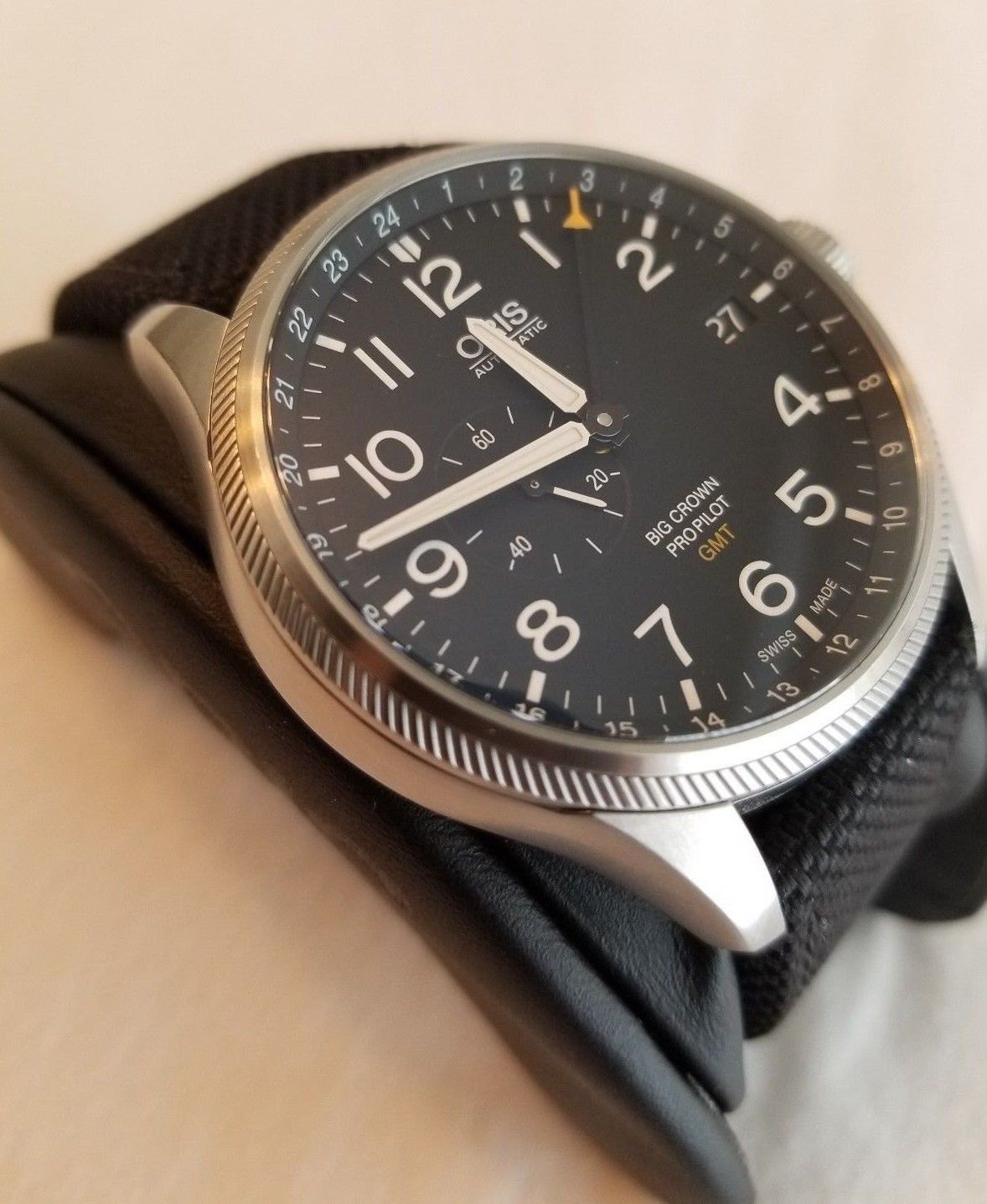 Oris Big Crown Propilot Gmt Small Second Automatic Men S Watch 748 7710 4164 Fs Watches For Men Watches Unique Watches