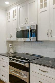 Best Silver Pearl Granite With White Cabinets Granite Kitchen 640 x 480