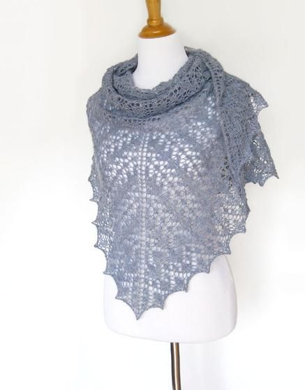 Silver Rain Shawl - Knitting Patterns and Crochet Patterns from KnitPicks.com