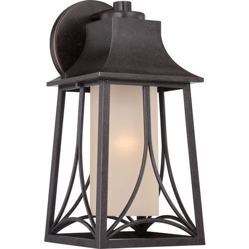 Hunter Imperial Bronze Eight-Inch Outdoor Wall Sconce