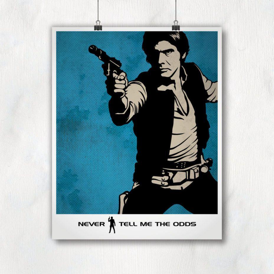 Vintage Movie Art Prints. Star Wars Poster Han Solo Quote Art ...