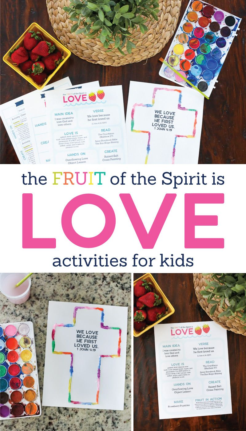 The Fruit Of The Spirit Is Love Kids Activities By The Littles Me Fruit Of The Spirit Activities For Kids Bible For Kids