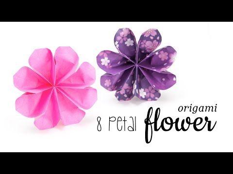 Youtube Origami Flower Pinterest Origami Origami Flowers
