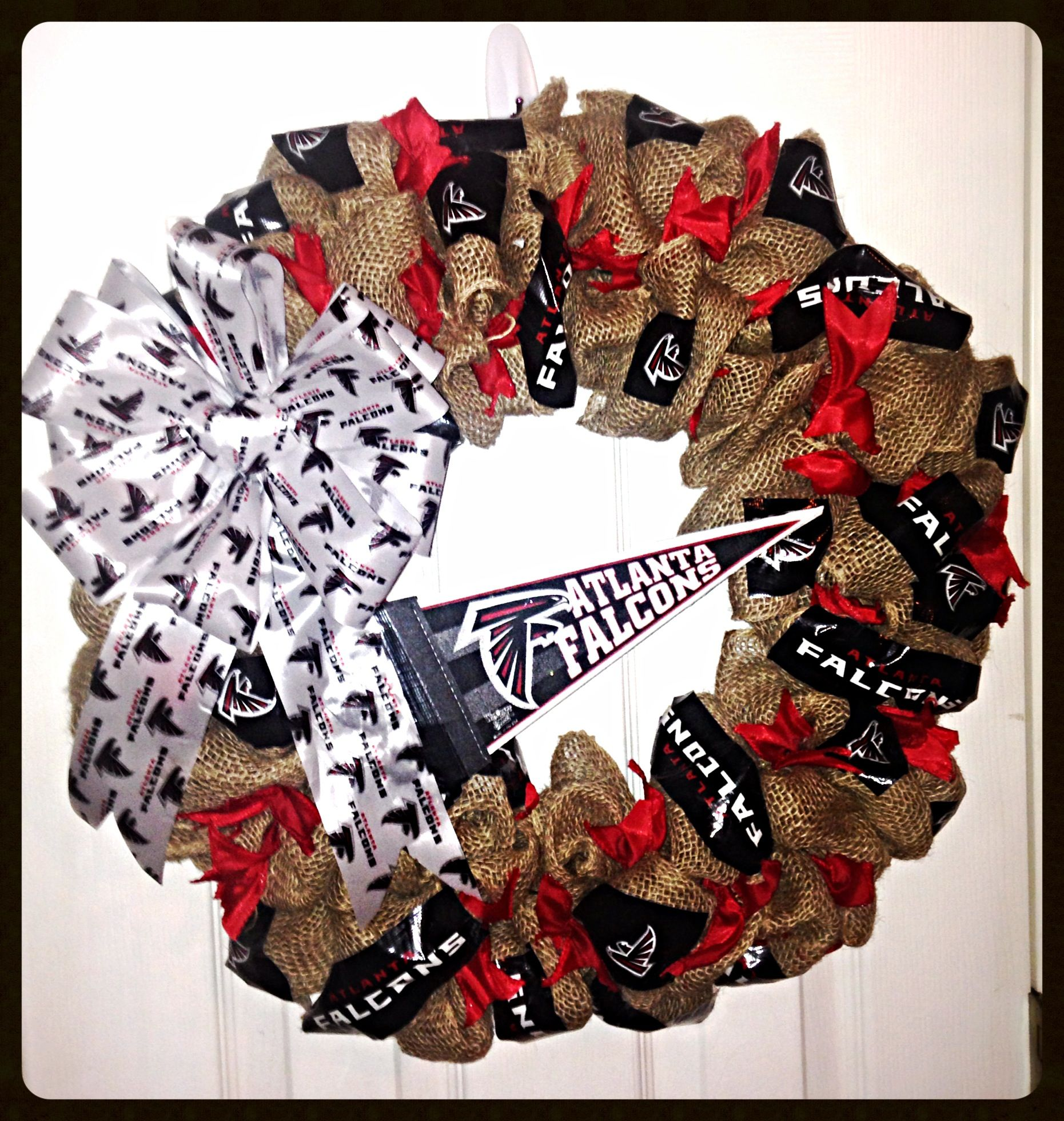 Atlanta Falcons burlap Wreath