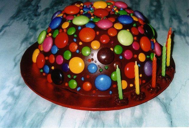 torta tonda con smarties torte di compleanno facili