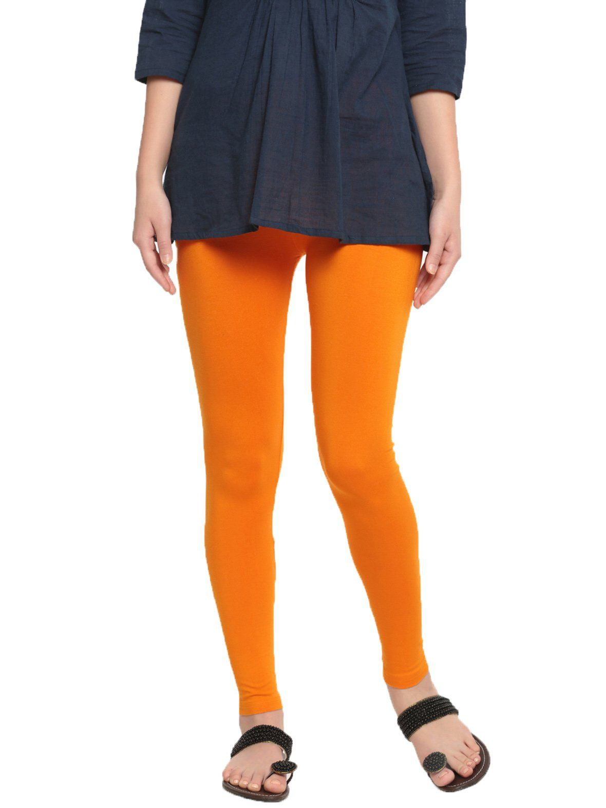 63e1d541b3cbe De Moza Womens Ankle length Leggings - Dark Yellow #indianfashion  #shoppinginindia #indigirl #bloggerbabes #hyderabadblogger #harem  #bloggerswanted ...