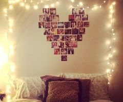 picture heart collage over bed - Google Search