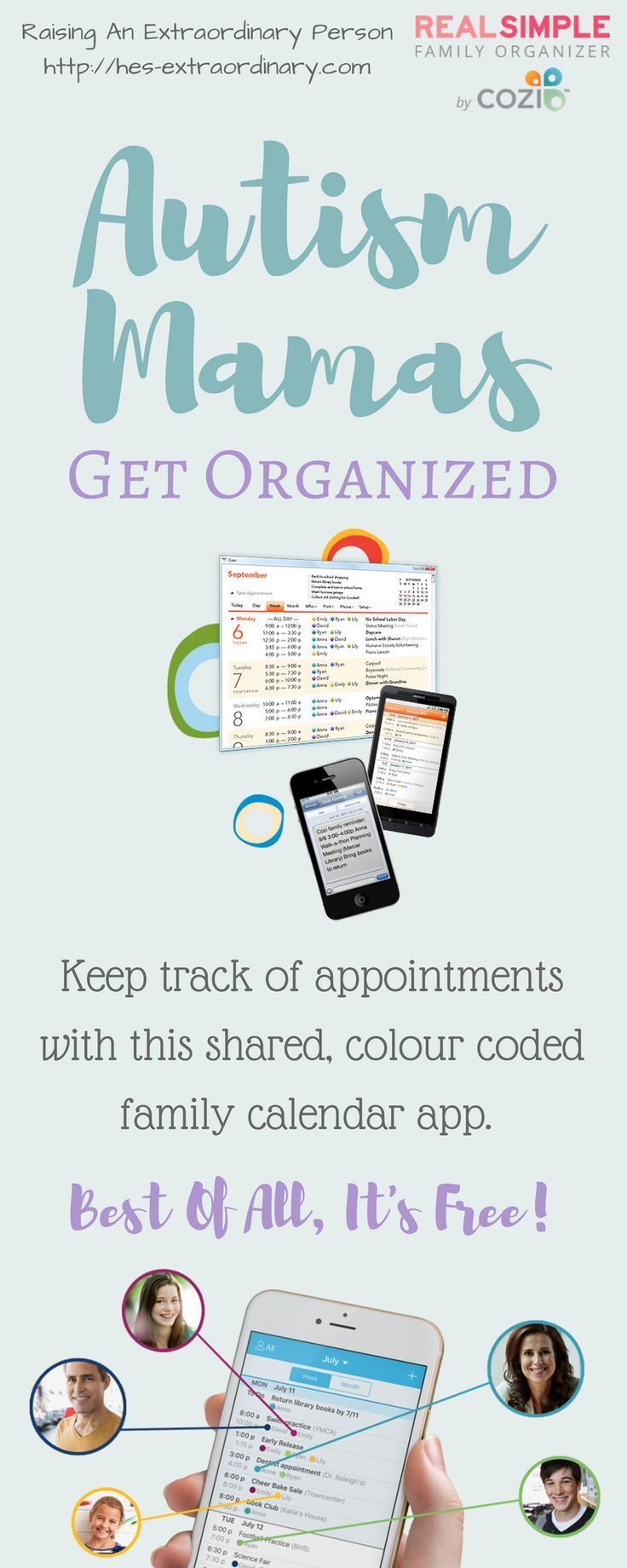Ad. Organize Your Family's Busy Schedules! Cozi can be