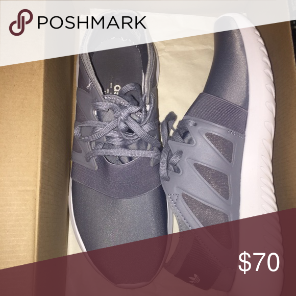 Adidas tubular virals grey Worn 3-4 times perfect condition and cleaned for you to use size 7 but fits more like an 8!! So I listed as 8 Adidas Shoes Sneakers