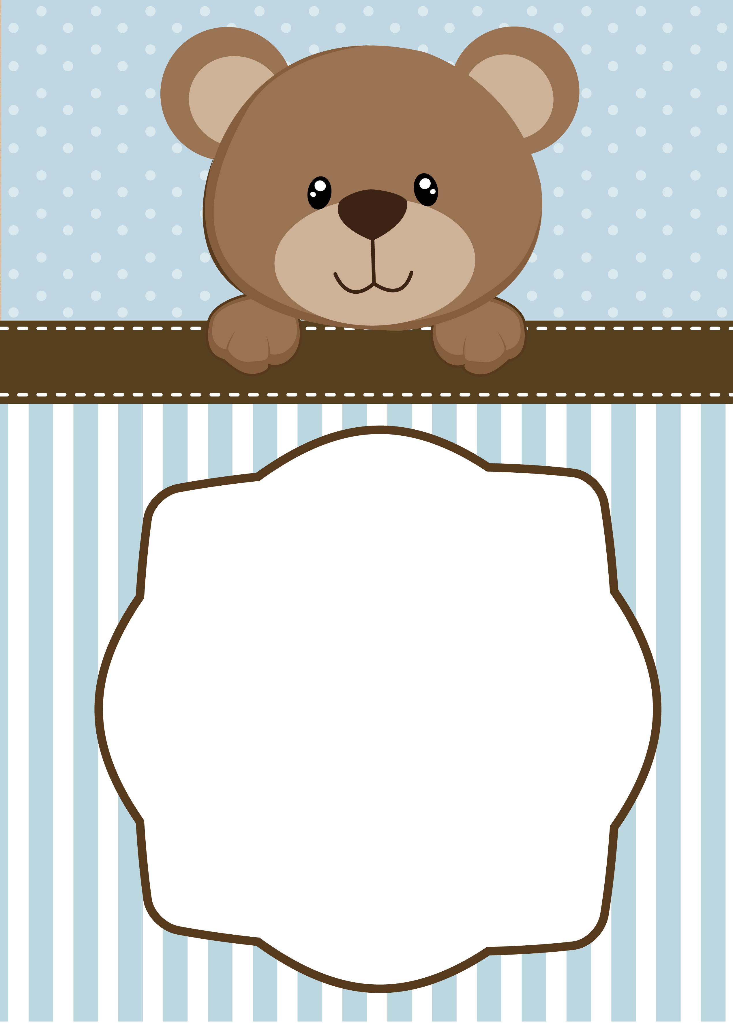 neutral teddy bear baby shower invitations