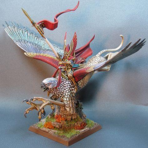 High Elf Lord on Griffon (avec images) | Elfe, Figurine, Peinture
