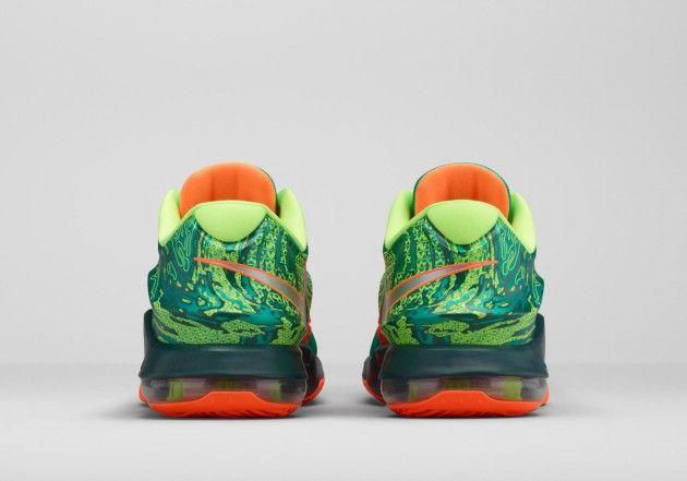 100% authentic e615f 3627f Nike KD7 Weatherman Kevin Durant, Kd 7, Marzo, Plata, Verde Esmeralda,