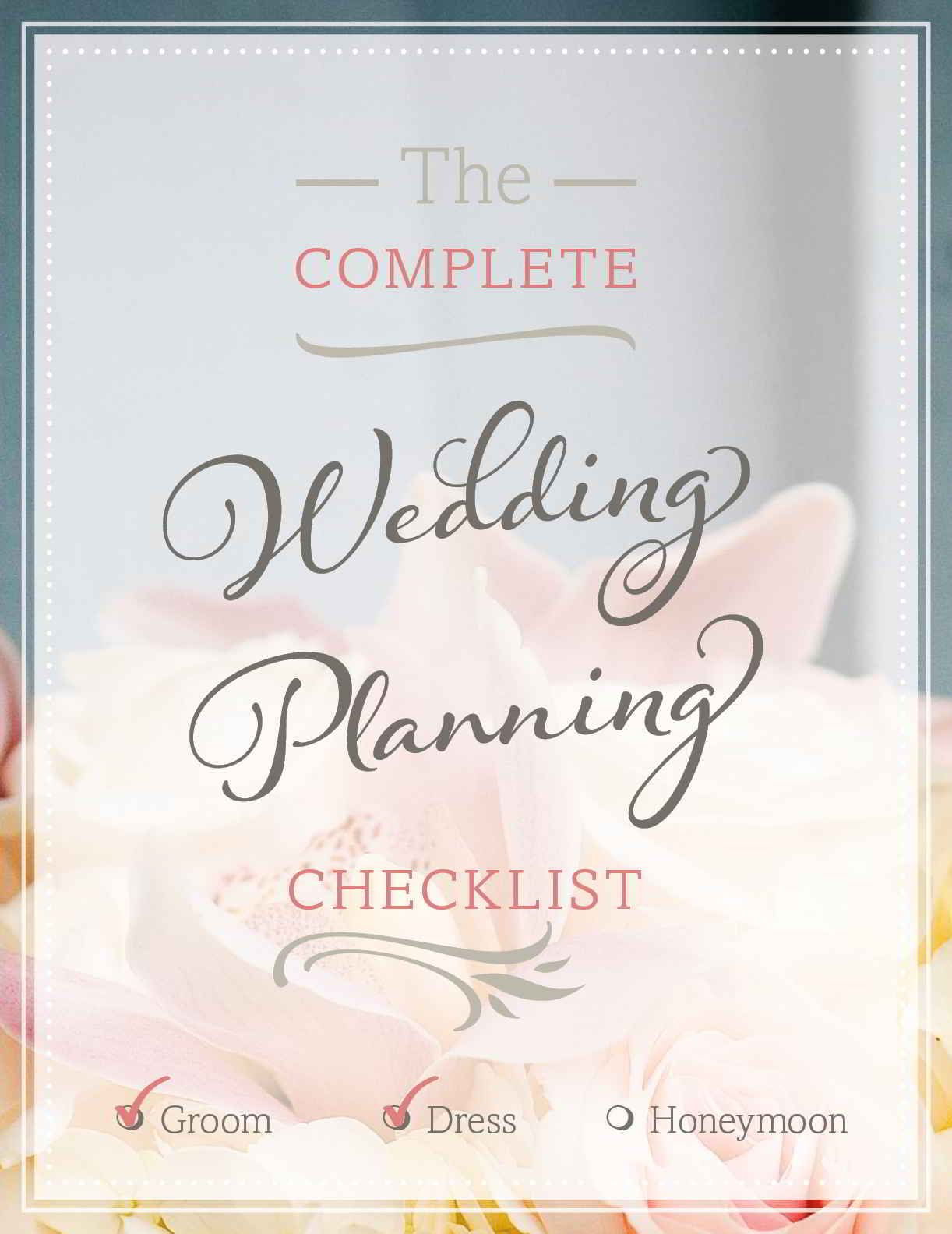 wedding planning checklist printable