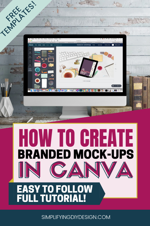 How To Create A Mockup In Canva Canva Mockup Flatlay Tutorial In 2020 Canva Tutorial Tutorial Custom Graphics