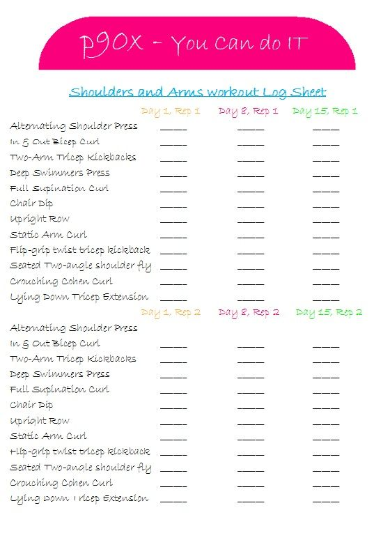 P90x Shoulders And Arms Motivation To Workout Pinterest P90x