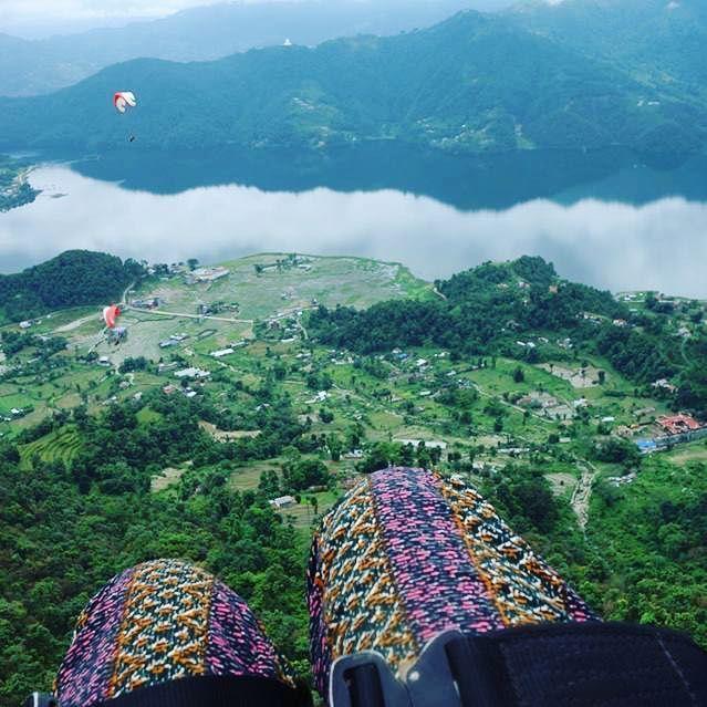 Take that leap! #happy #leap #day #ddRoams #didianddhai #travel #phewalake #pokhara #nepal #paragliding #lake #dktm #instanepal #leapyear #leapday
