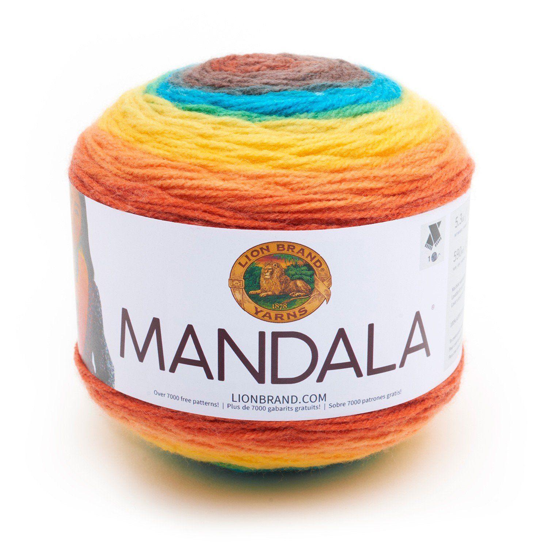 Lion Brand Mandala Yarn Thunder Bird Color Gradient Yarn | Para el ...