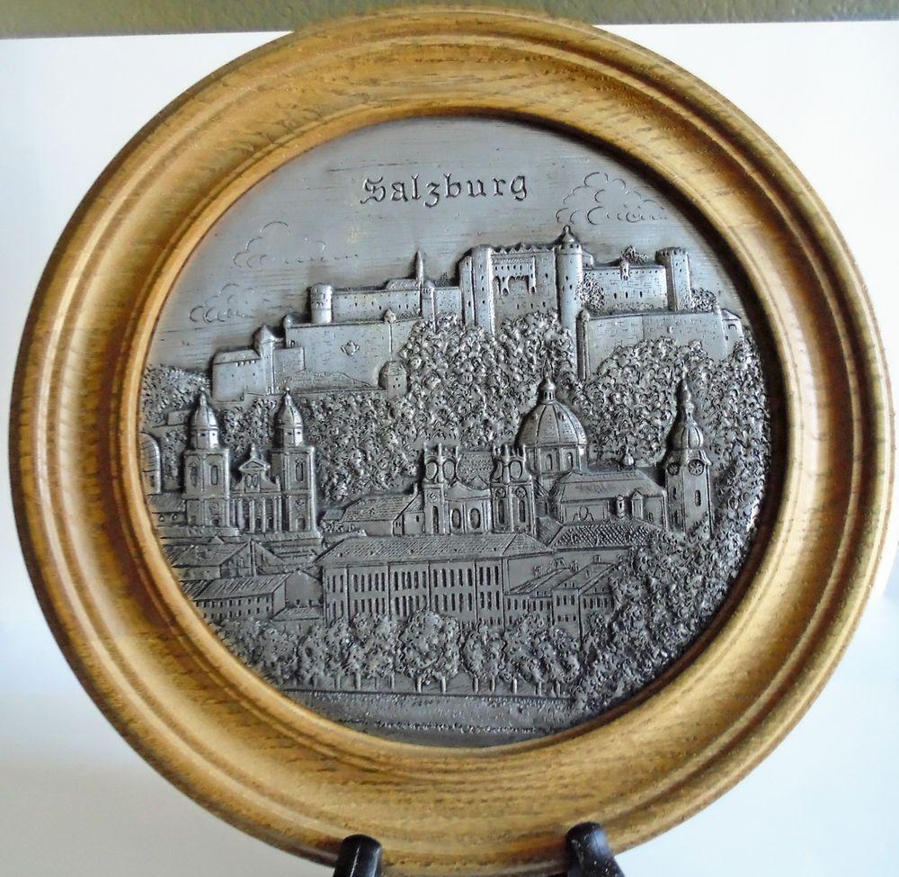 Zinn Relief Pewter Medallion / Wall Decor of Salzburg Austria in ...