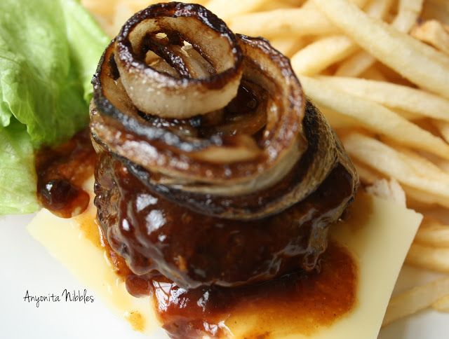 Slow Cooker BBQ Burgers with Carmelized Onions